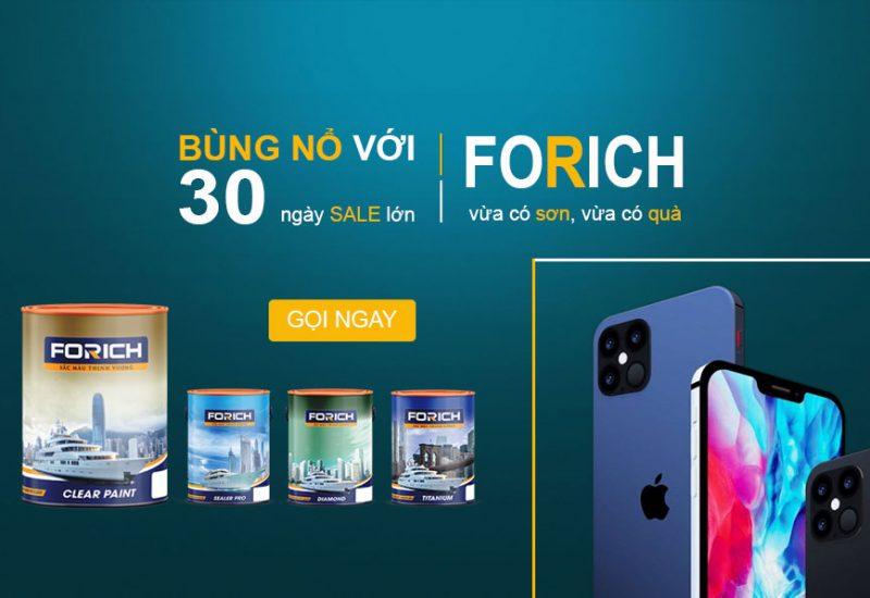 Chương trình [Quà Tặng] dành cho khách hàng tháng 11/2020 - MỪNG RA MẮT - Forich | Forich Paint | Sơn nước cao cấp | Forich.vn new