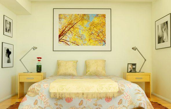 Sơn phòng ngủ đẹp sử dụng màu vàng nhạt - Forich.vn